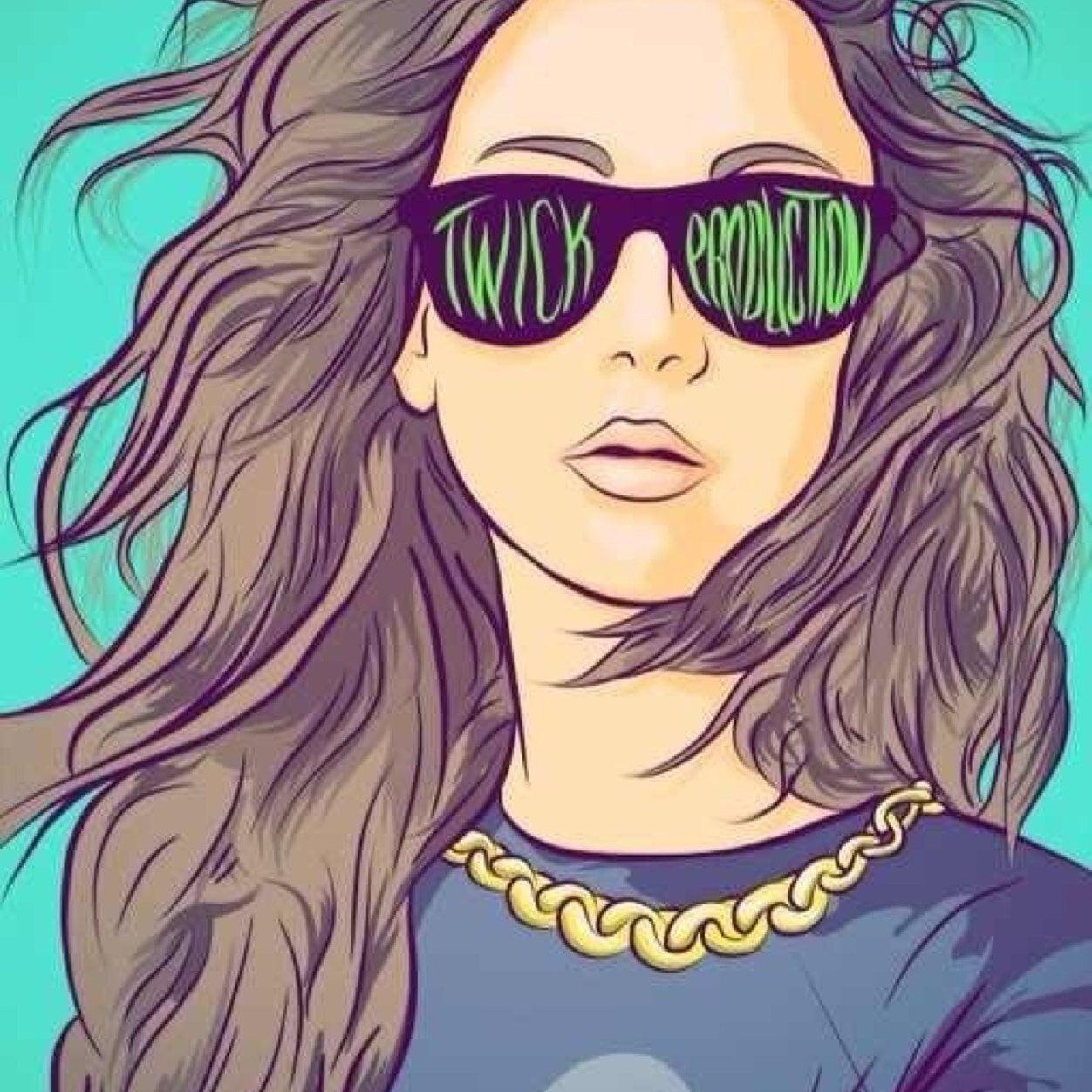 Рисунки девушек на аватар