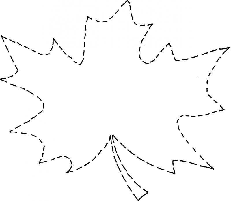 Картинки, шаблон для открытки кленовый лист