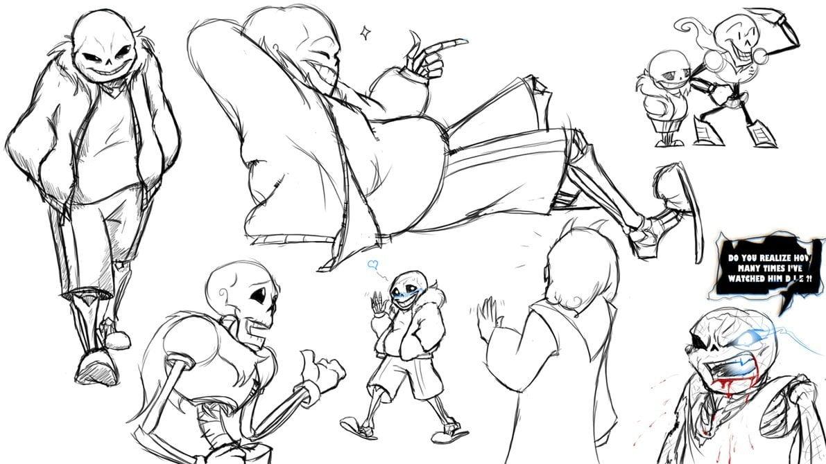 Картинки рисунки андертейл карандашом