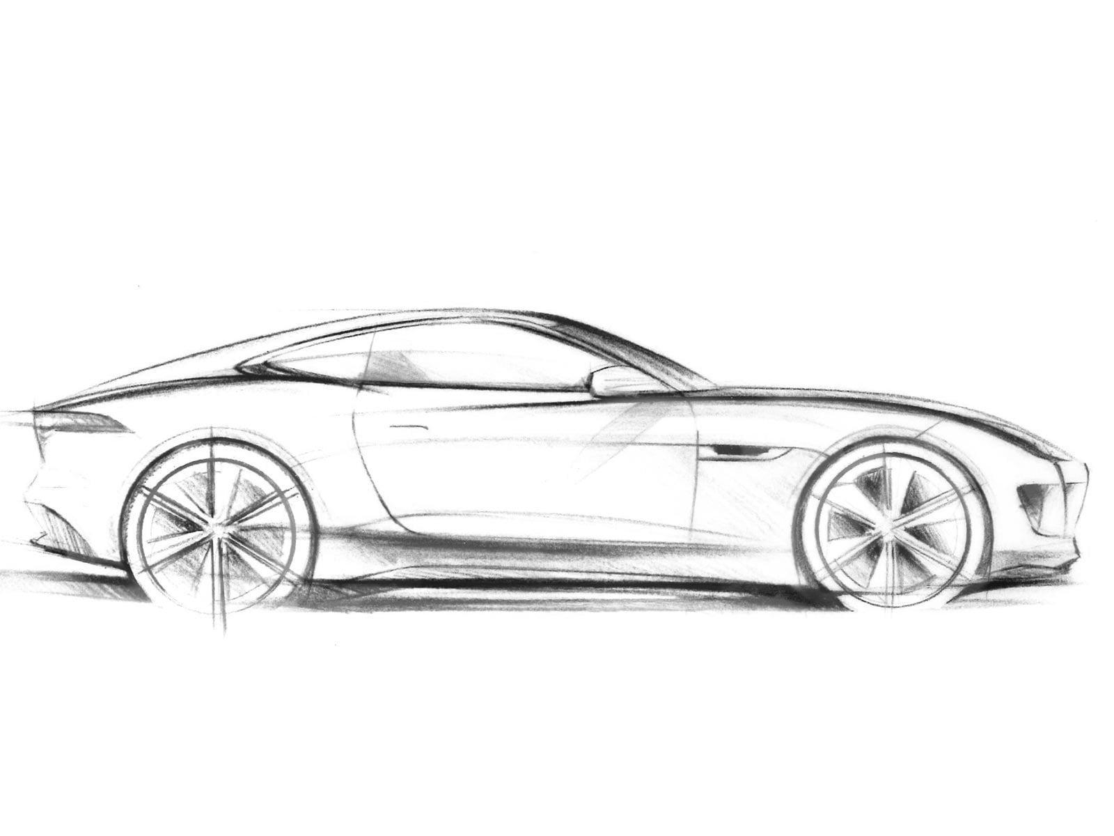 рисунок автомобиля сбоку смотрят