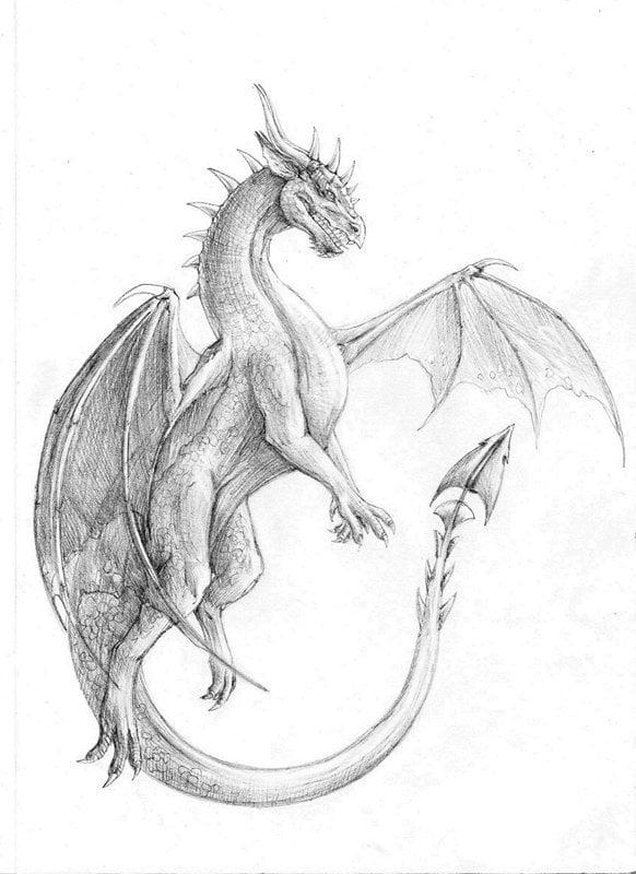 Поздравление, дракон картинки для срисовки