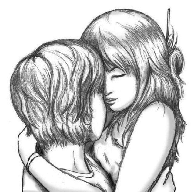 Дню, красивые нарисованные любовные картинки