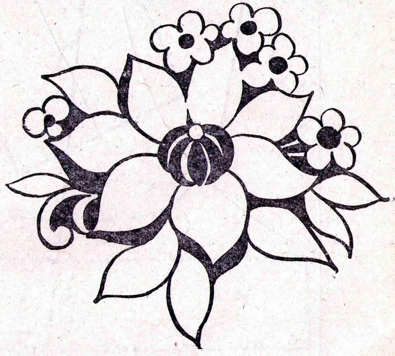 Новогодние, рисунок карандашом для срисовки легкие и красивые цветы