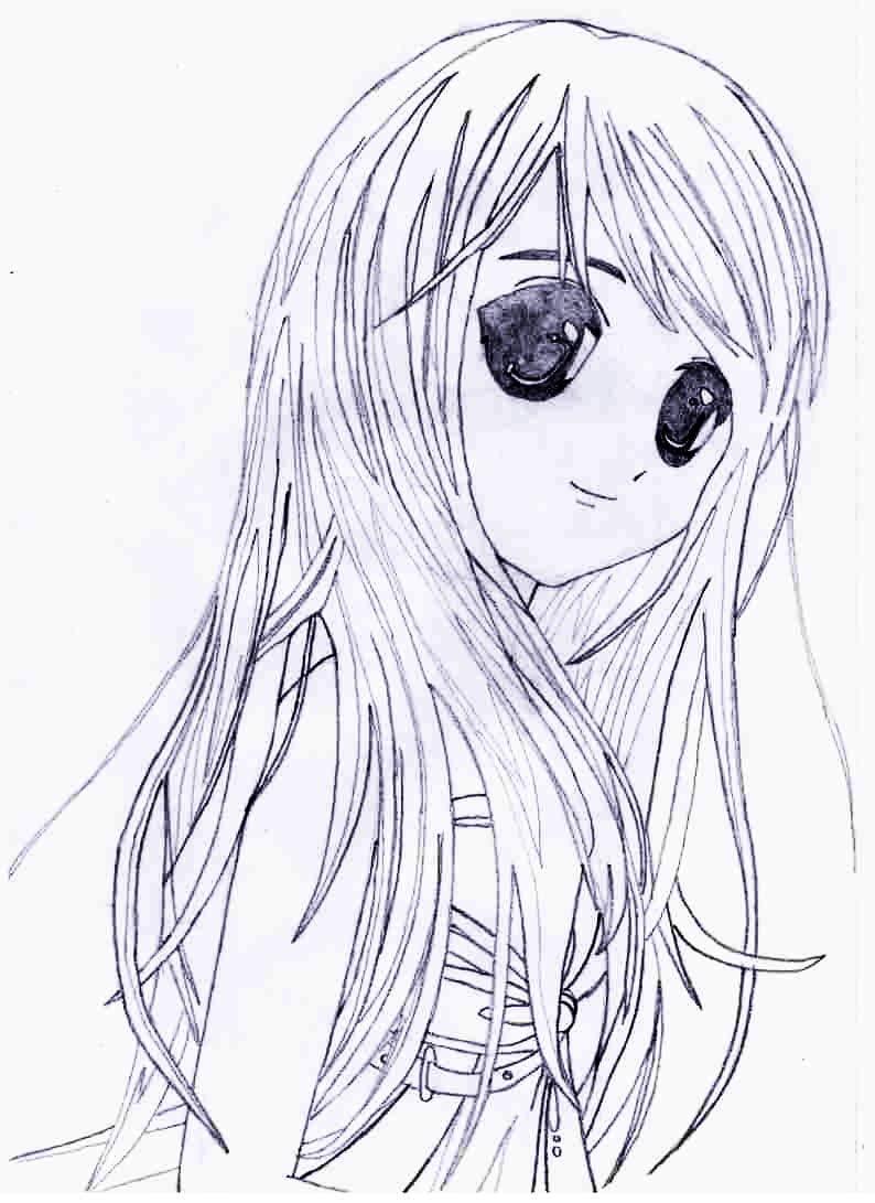 Марта мужиком, аниме картинки нарисованные карандашом девушки