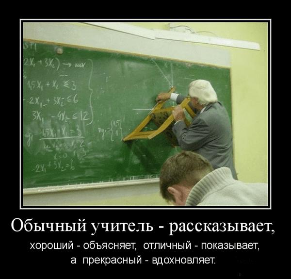 Демотиваторы смешные учителя