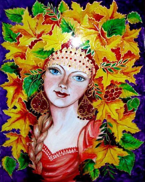 Портрет осени - картинки и рисунки (22 фото) • Прикольные ...  Девушка Осень Рисунок