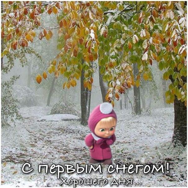 юморные картинки с первым снегом можете