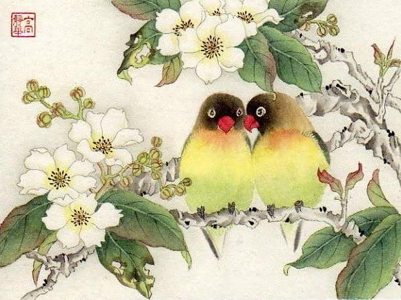 Картинки птицы на ветках (33 фото) 🔥 Прикольные картинки и юмор | 434x581