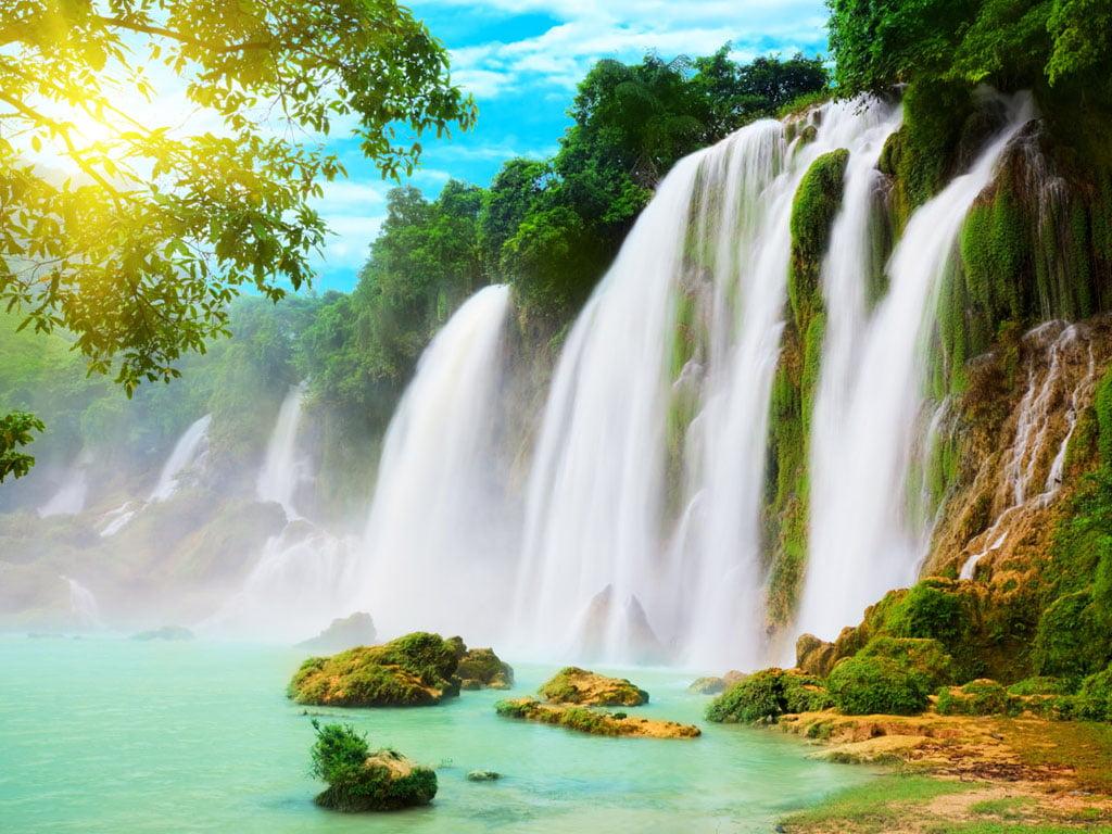 Обои красиво, водопад, Вода. Природа foto 11