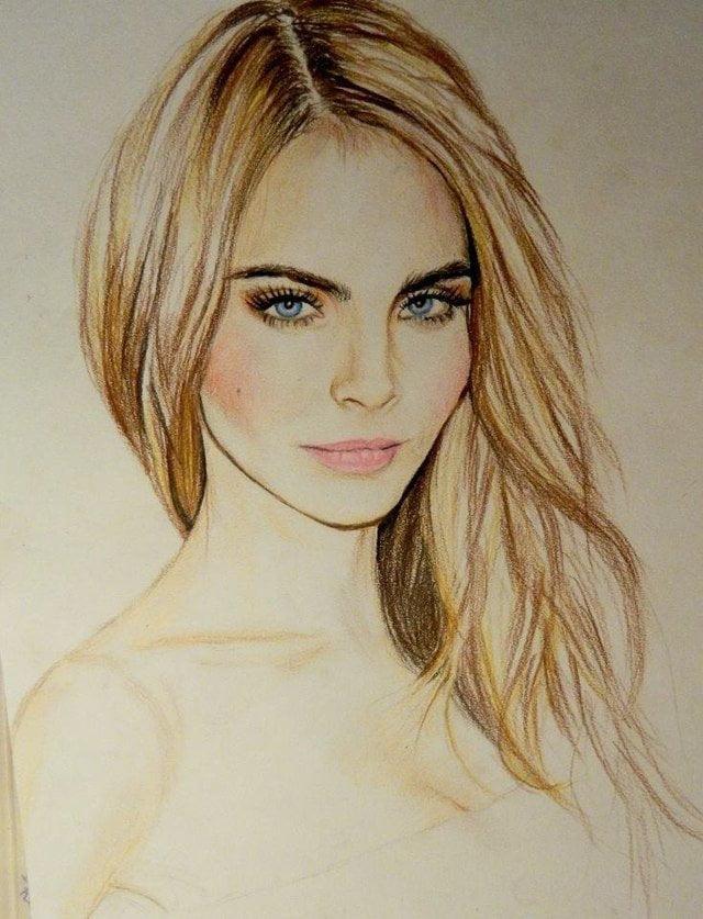 Красивая девушка картинки нарисованные, телефон самсунг