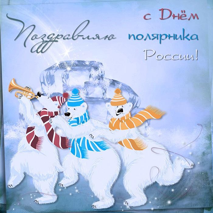 Поздравления летием, открытки с днем полярника