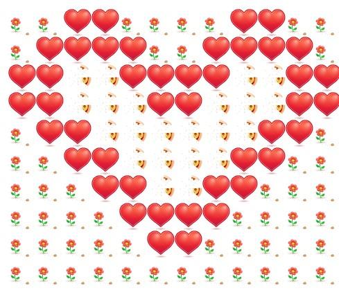 Красивые картинки из сердечек в вк