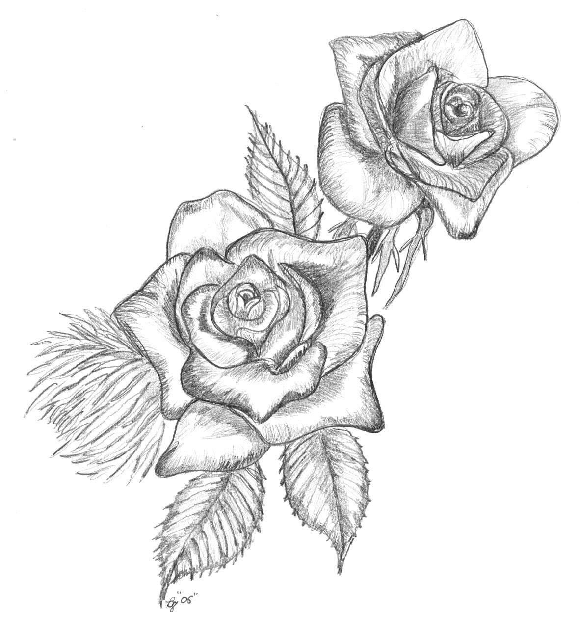 Картинки для срисовки очень легкие и красивые розы, картинки день рождения