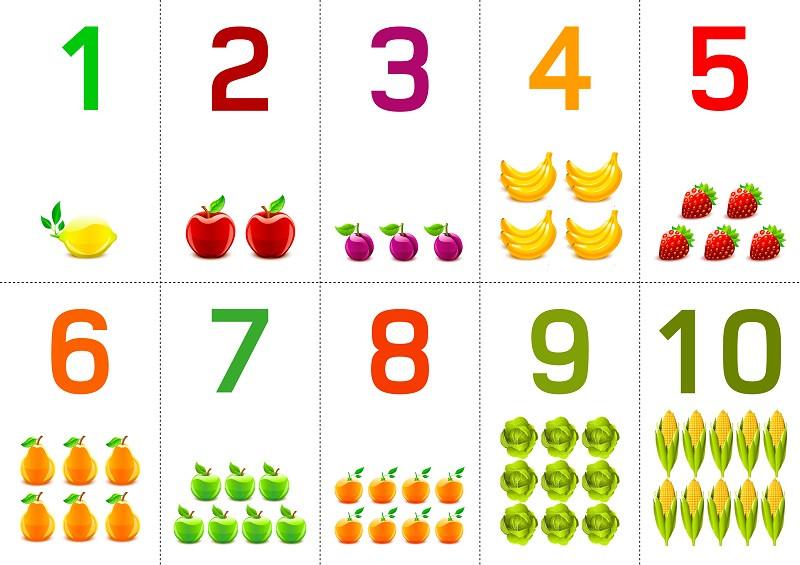 Цифры с количеством картинок можно
