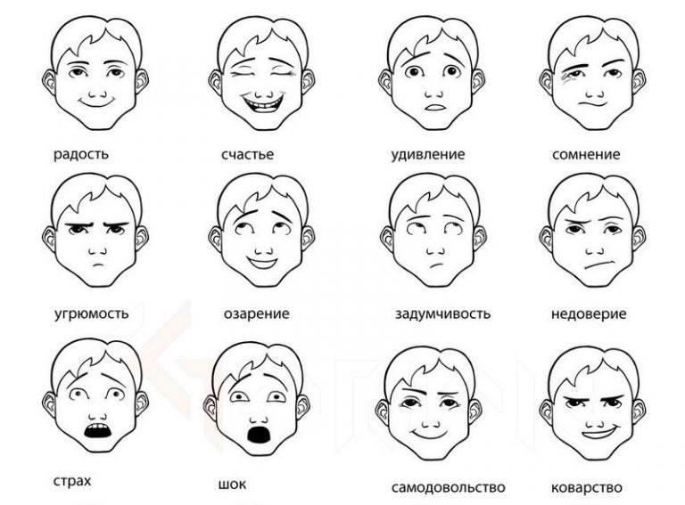 изображение различных эмоций картинки подумайте