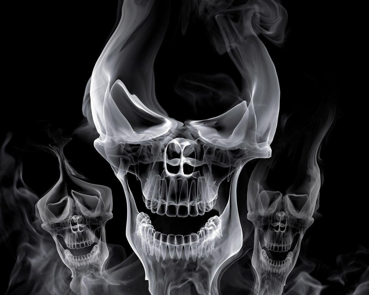 картинки классных черепов новогодняя открытка