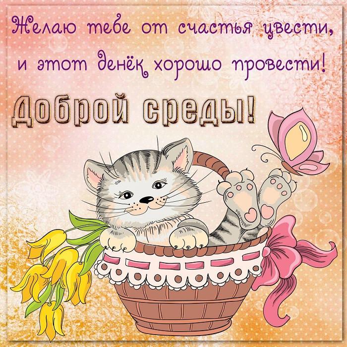 Картинки поздравления со средой, открытка маме