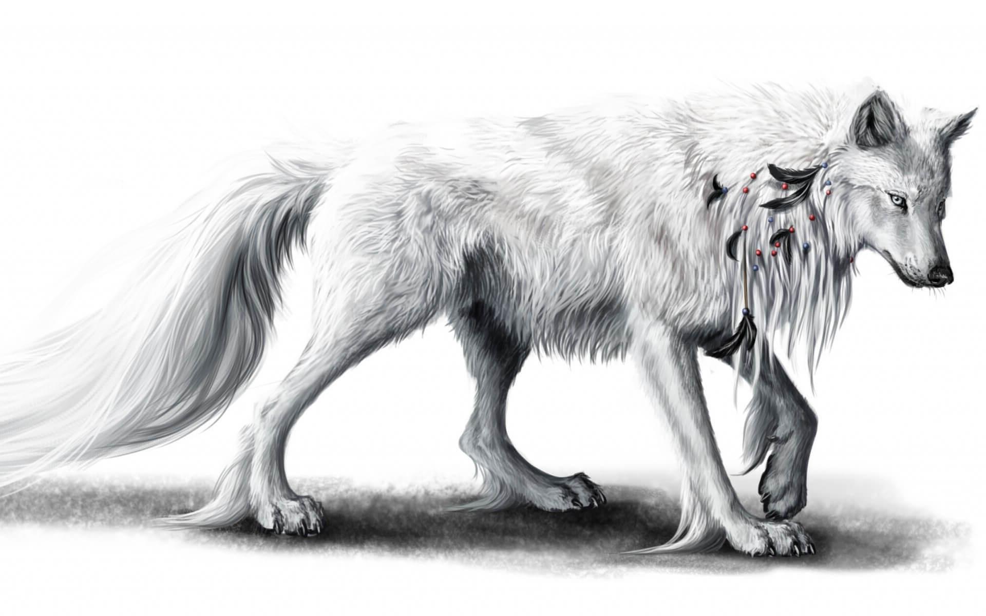 Рисунок с волками