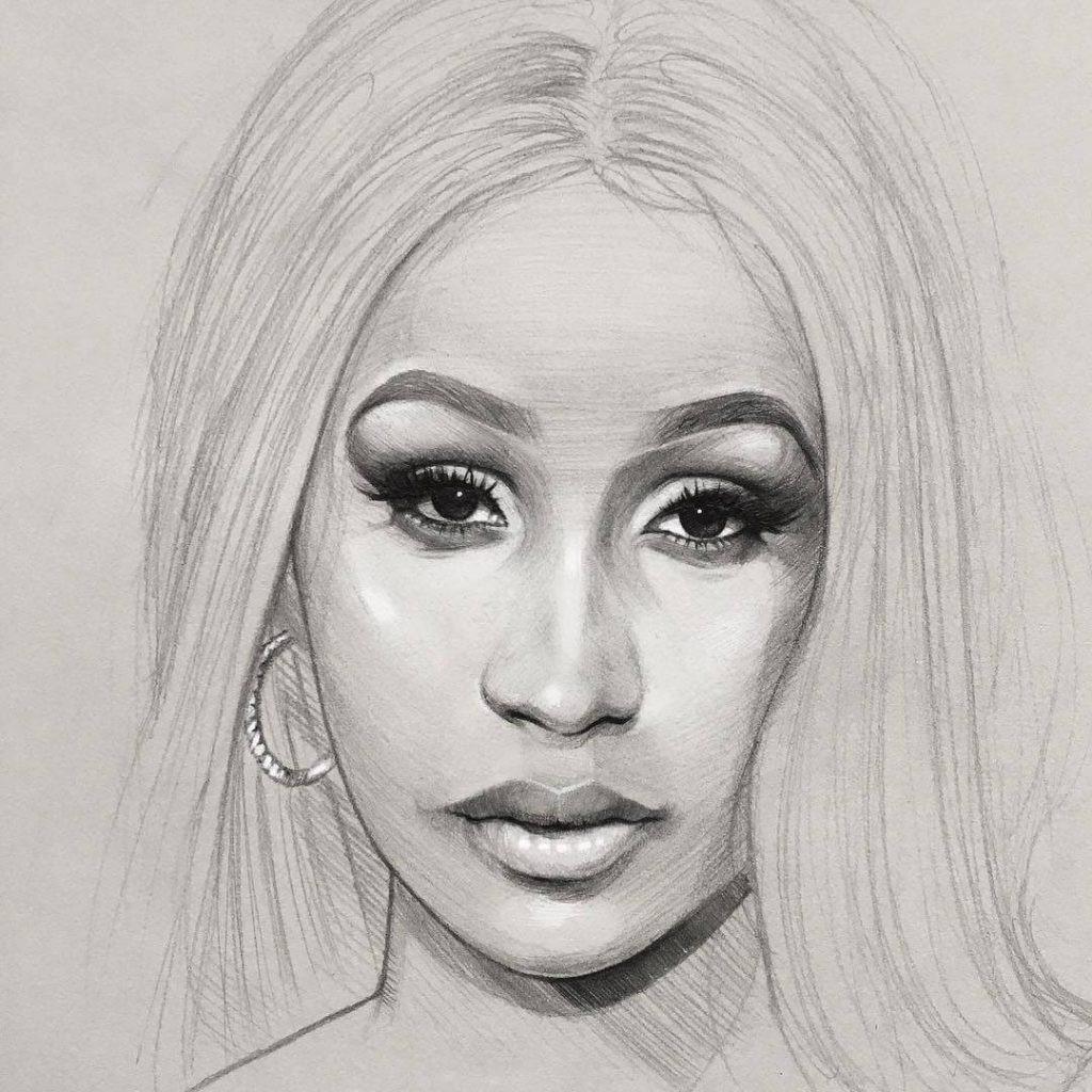 Девушка карандашом картинки для срисовки