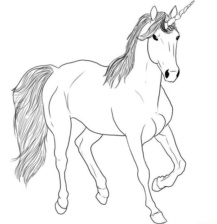 Единорог картинки карандашом как нарисовать