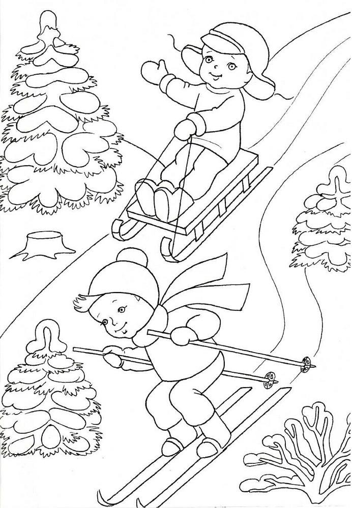 Картинки для срисовки детские забавы