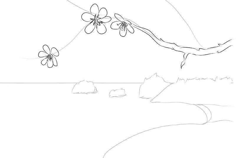 весна картинки рисовать поэтапно топор-чекан иногда