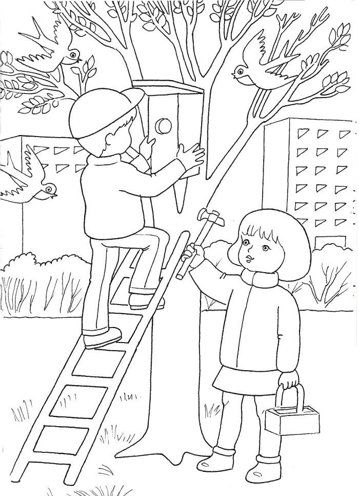Зажги, рисунок весенние работы в твоей семье