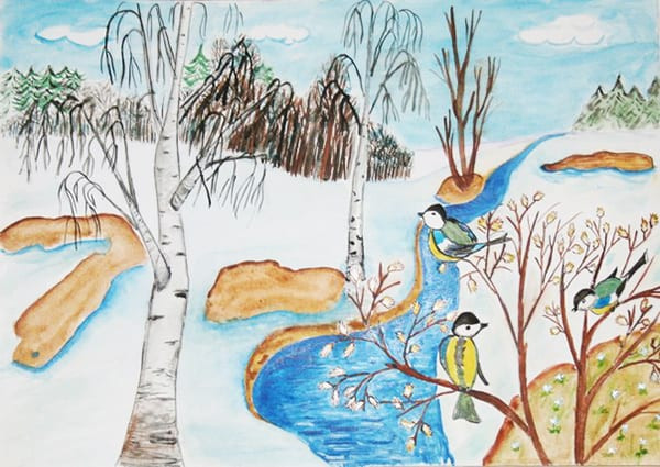 рисунки к стиху весна весна как воздух чист через циклический маслоотделитель