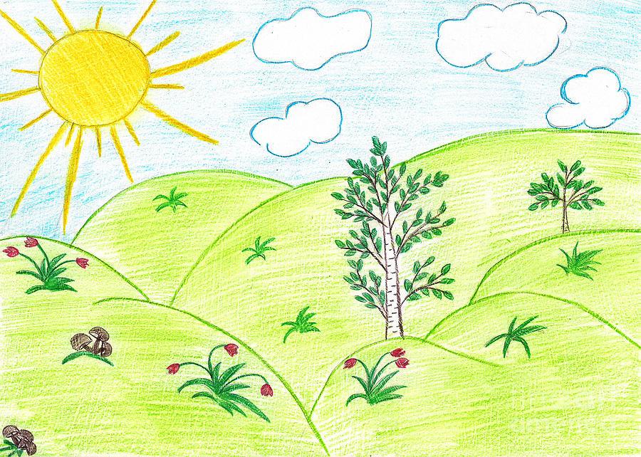 Аниме картинки, картинки лето рисунки