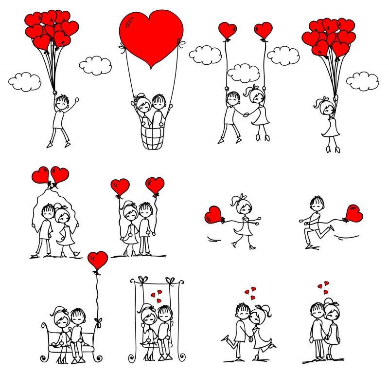 Мини рисунки про любовь