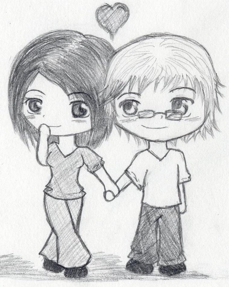Картинки про любовь нарисованные карандашом для начинающих детей легко
