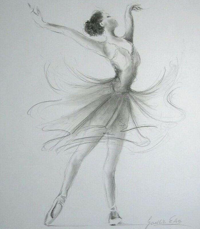 Красивые балерины картинки нарисованные