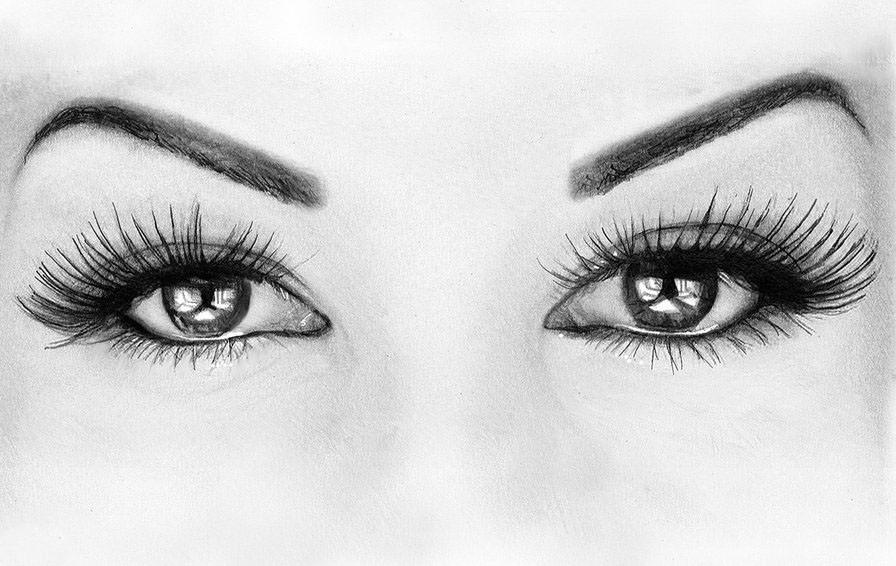 Картинки глаза девушки рисованные