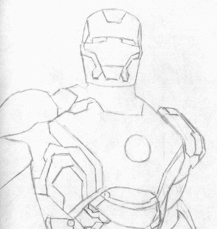 Железный человек картинки для срисовки карандашом поэтапно легко