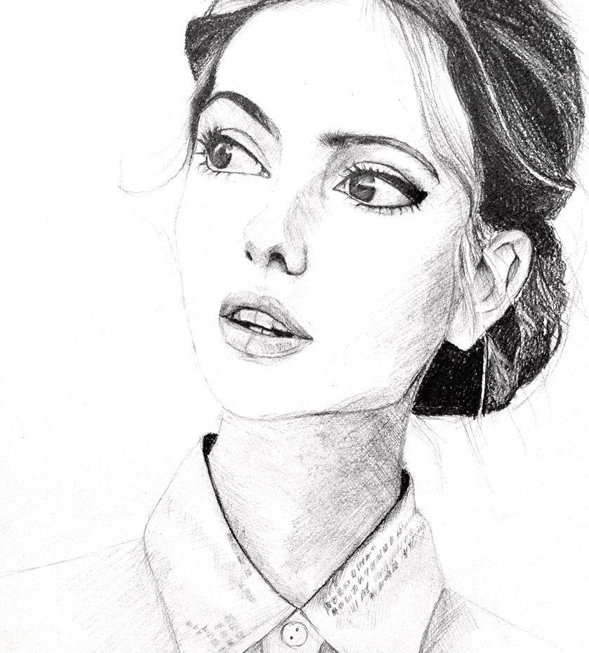 Девушка и карандаш - mystical-blog.ru