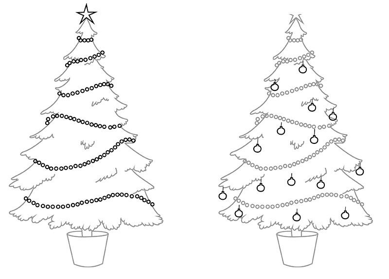Картинки елка карандашом поэтапно для