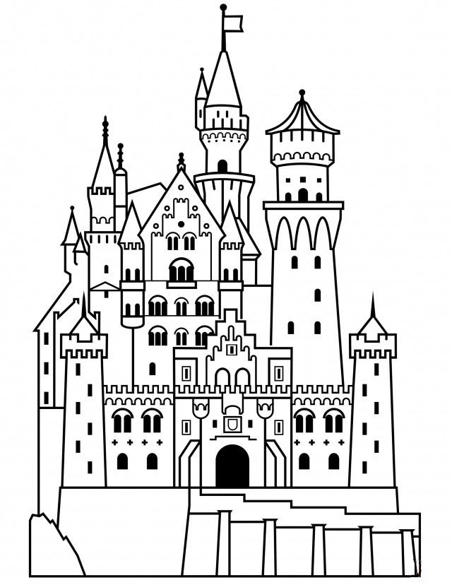 Картинки замка для срисовки, февралю открытках