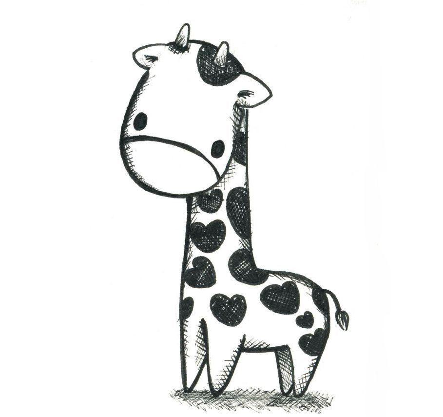 Смешные картинки для срисовки легкие с животными, смешная