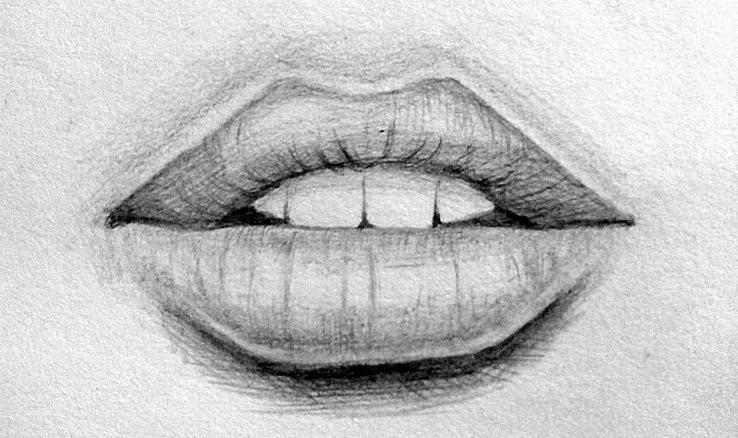 Картинки для рисования карандашом губы