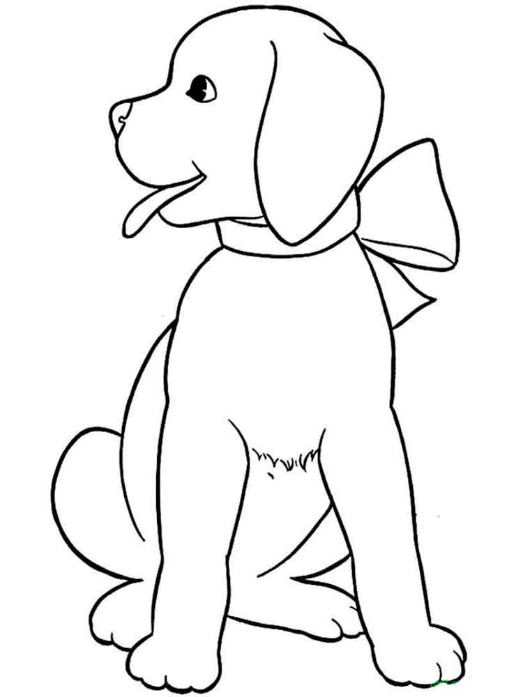 картинки собак для раскрашивания