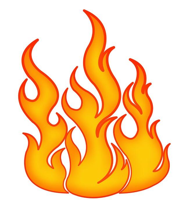 Картинки огня нарисованного