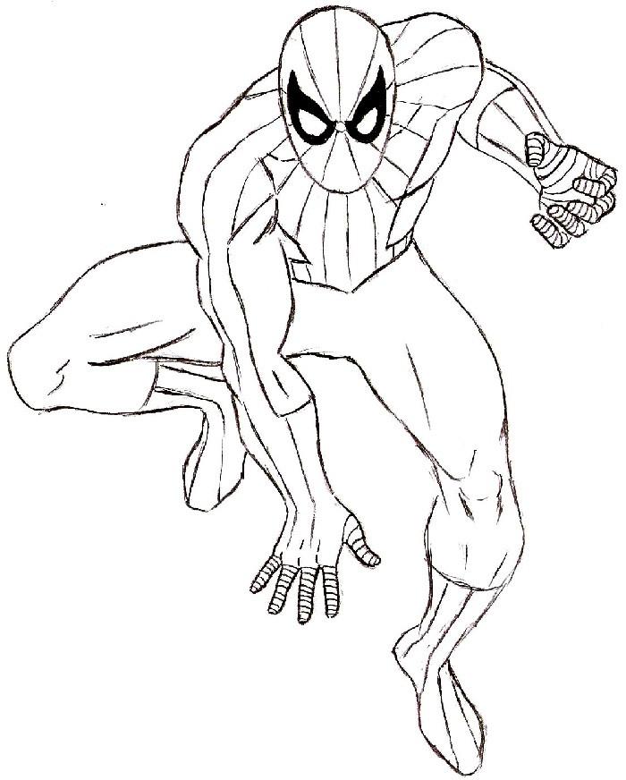 Картинки человек паук для рисования