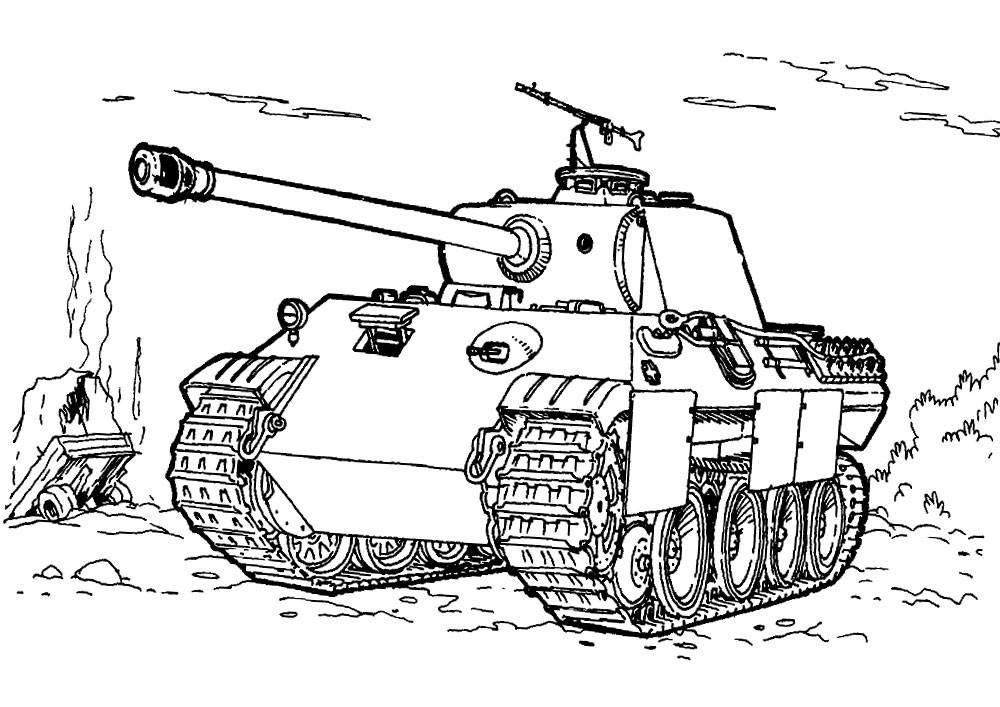 картинки для рисования танк нас можете
