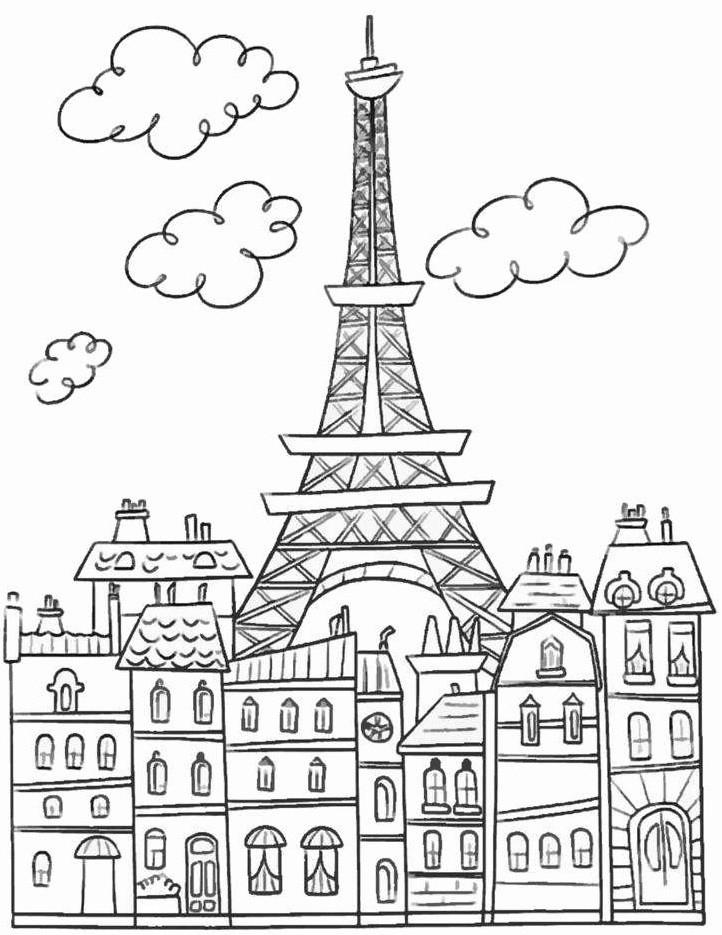 Картинки рисунки города для раскраски