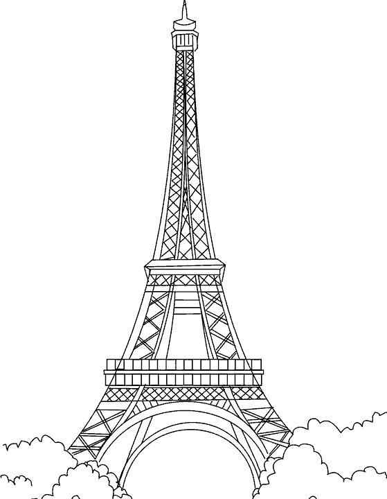 Картинки эйфелевой башни карандашом для срисовки
