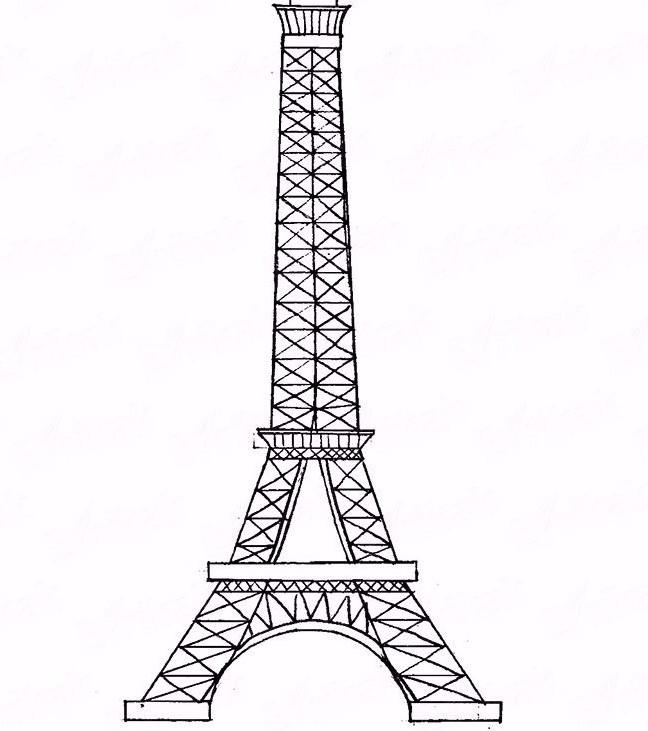 Открытка, картинки эйфелева башня для срисовки