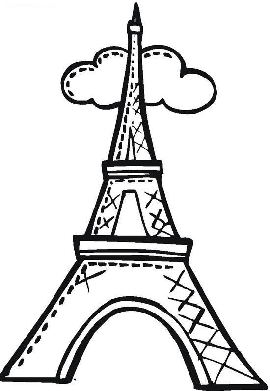 Картинки эйфелева башня для срисовки
