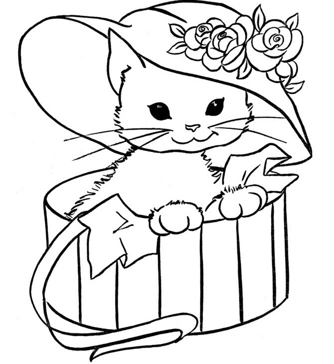 Как нарисовать кошку на открытку