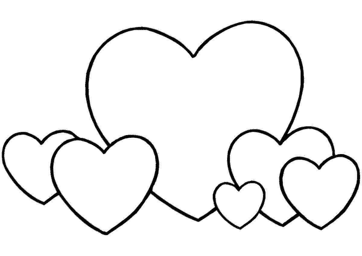 Красивые картинки сердец для срисовки
