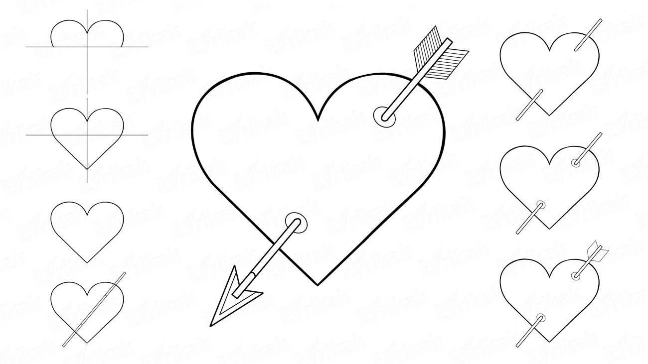 предприятий рисунки сердечки поэтапно для